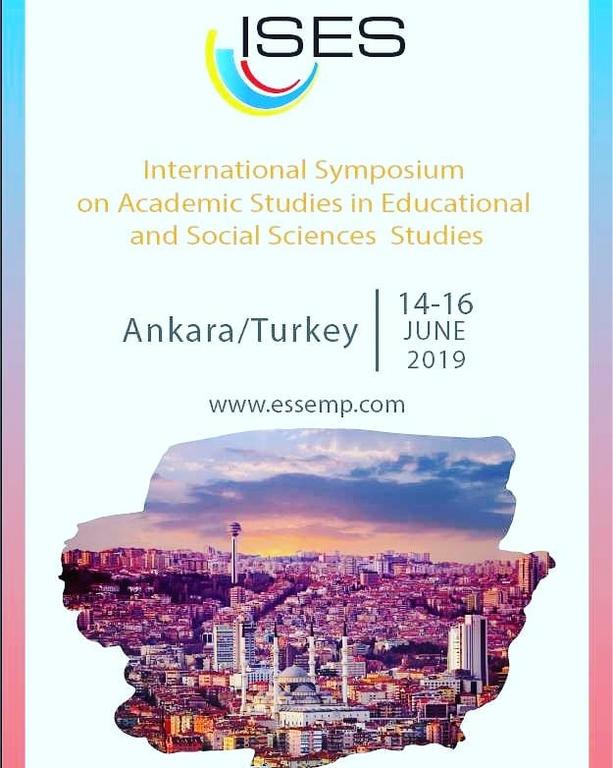 VI. Uluslararası Eğitim ve Sosyal Bilimlerde Akademik Çalışmalar Sempozyumu 14-16 Haziran Ankara' da yapılacak.