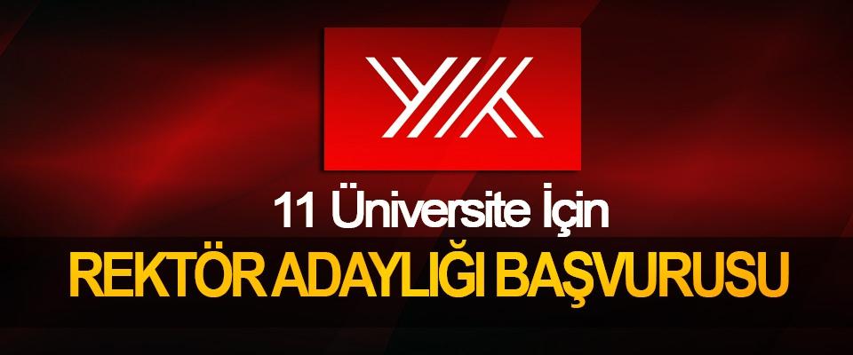 11 Üniversite İçin Rektör Aranıyor !!!