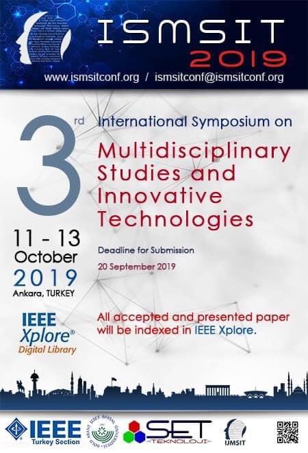 Disiplinli çalışmalar ve yenilikçi teknolojiler konulu Uluslararası Sempozyum 11-13 Ekim 2019. tarihleri arasında Ankara' da yapılacak.
