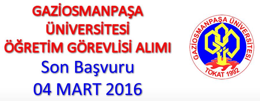 Gaziosmanpaşa Üniversitesi Akademisyen Alıyor