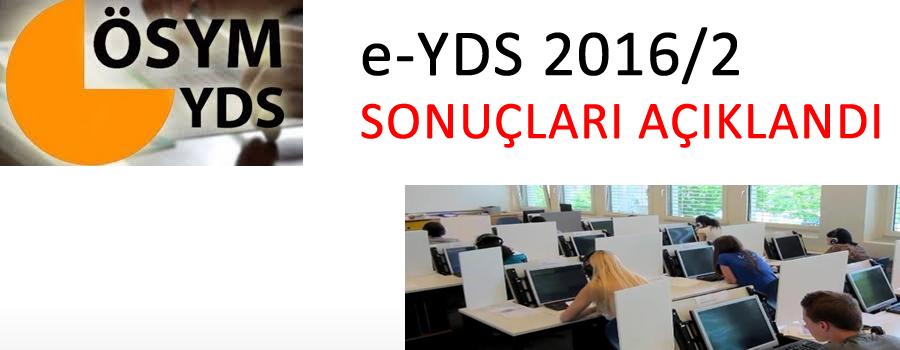 2016/2 e – YDS Sonuçları Açıklandı