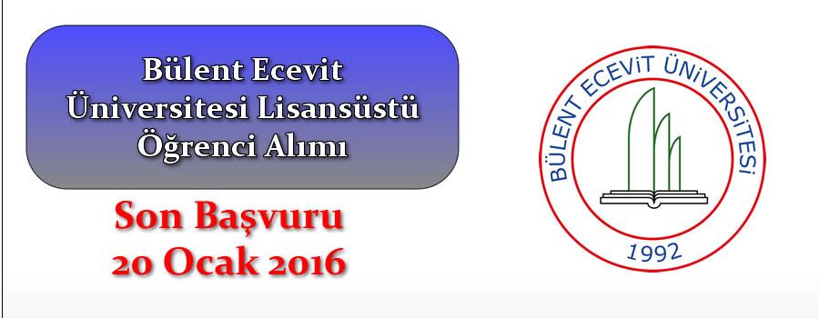 Bülent Ecevit Üniversitesi Lisansüstü Öğrenci Alım İlanı