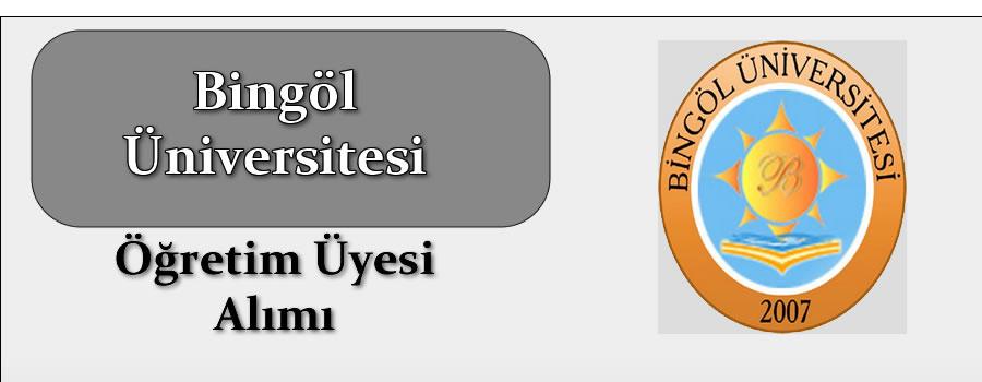 Bingöl Üniversitesine Öğretim Üyesi Alınacak