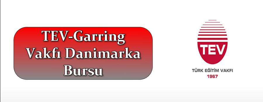 TEV-Garring Vakfı Danimarka Bursu